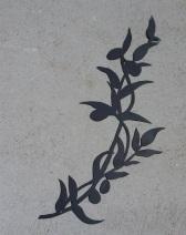 branche olivier metal
