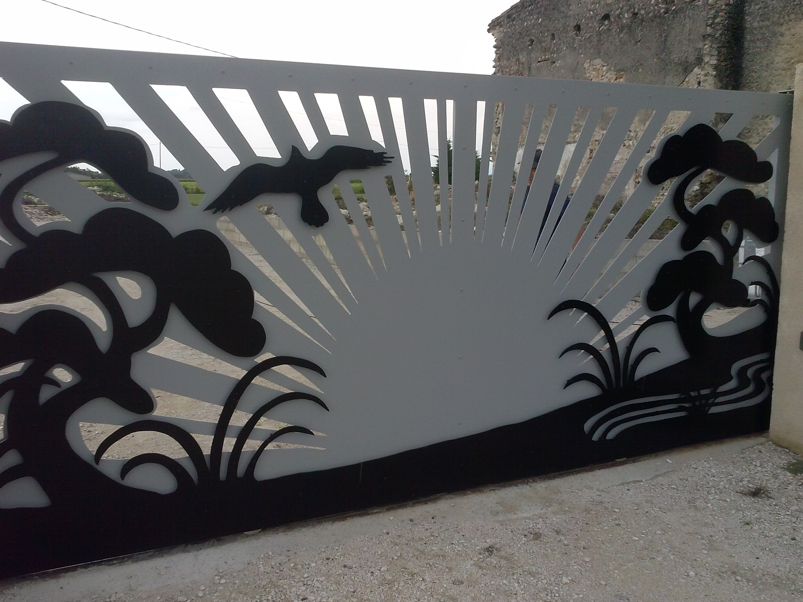 d coration ext rieure metal art design by jessica salmeron. Black Bedroom Furniture Sets. Home Design Ideas