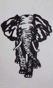 Eléphant décoration murale en acier