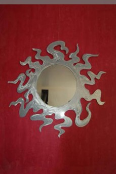 Miroir soleil aluminium, diamètre 1m